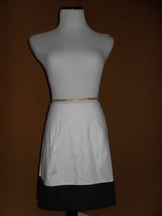 NWT J CREW Women's Colorblock Flare Mini Skirt, WHITE, Size 4 SOLD OUT ONLINE