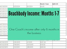 Looking for a great opportunity to challenge you? Beachbody may be for you- check out my income for the 1st 6 months- you could do it too!