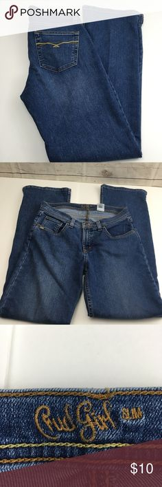 """Cruel Girl Slim jeans 9R Ladies Cruel Girl Slim Jeans  Size 9R  Medium Wash  76%cotton 23% polyester 1% spandex   Measurements are approximate and taken with item lying flat  Waist 15""""  Rise 9""""  Inseam 31""""  Bottom leg cuff 8.5"""" Cruel Girl Jeans"""