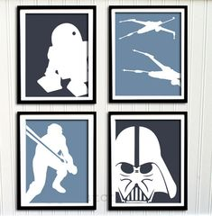 Star Wars Print Set - Boys Nursery or Room, Boys Decor, Personalized Print - (4) 5x7. $40.00, via Etsy.