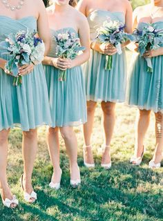 Damas de honor en color #PlacidBlue #Bridesmaids #dress #Wedding #YUCATANLOVE