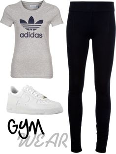 """""""Gym Outfit"""" by whiteroselovesfashion ❤ liked on Polyvore"""