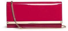 JIMMY CHOO 'Milla' patent leather wallet clutch