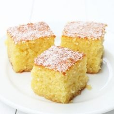 Ravani is the name of this delicious classic Greek  cake, made with coconut and semolina, really good!!