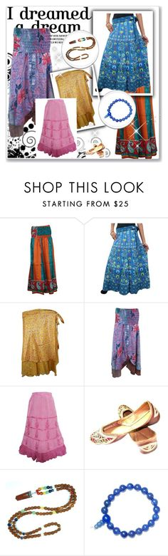Bohemian Printed Skirts by tarini-tarini on Polyvore featuring Lazuli, skirts, sale and offer