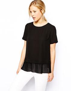 ASOS T-Shirt with Pleat Peplum