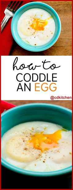 Coddling is a cooking method that involves cooking food in a water bath. Eggs are the most commonly coddled food. Coddled eggs are often used in recipes that want to safely use a raw egg. Healthy Eating Tips, Healthy Cooking, Cooking Food, Cooking Lamb, Healthy Recipes, Crab Deviled Eggs Recipe, Egg Recipes For Breakfast, Breakfast Ideas, Brunch Ideas