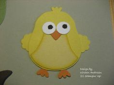 Kirsten stamp box: Suitable for Easter: a chick and a cock
