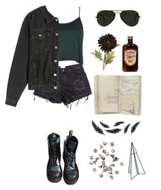 """a bit of jealous"" by nevermind90 ❤ liked on Polyvore featuring Ray-Ban, Boohoo, Dr. Martens, Pier 1 Imports, Monday, H&M and Plane"