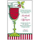 Holiday Cocktail Invitations, Here's to Cheers! Holiday, 27055