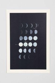 Paul Tebbott Must Be The Moon Art Print. maybe for the bathroom?