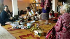 These women worked SO hard! Paksong, Laos http://twistedfootsteps.com/jhai-coffee-round-two-monk-madness/