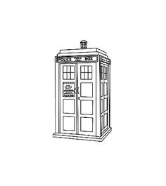 Doctor Who Tardis Rubber Stamp on Etsy, $15.99: