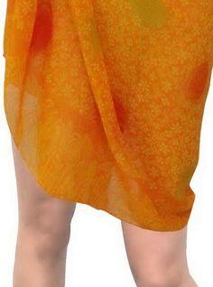 804001567b Sarong SwimSwimwear Beach Bikini Cover ups Printed Chiffon Pink One Size Bikini