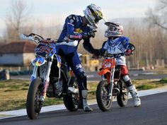 Man, how stoked is that kid to be learning how to ride Motorad from his dad??  What a lucky kid and a cool dad.