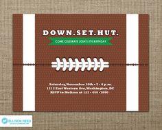 Football Invitation Football Party Football by EllisonReed, $16.00