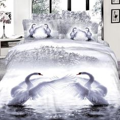 Cheap duvet cover set, Buy Quality king size directly from China bedding set Suppliers: Animal Housse De Couette Bed Sheet Romantic Swan Print 7 Pcs Bedding Sets Queen Super King Size Duvet Cover Set Pillowcase Bed Comforter Sets, Cheap Bedding Sets, Cotton Bedding Sets, Queen Bedding Sets, Comforter Cover, Queen Size Bed Covers, Animal Print Bedding, Cheap Bed Linen, Queen Size Quilt