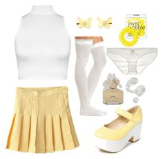 sunshine girl by daddybratty on Polyvore featuring polyvore, fashion, style, WearAll, Charlotte Russe, Only Hearts, Invisibobble, Monsoon, Marc by Marc Jacobs, Illamasqua and clothing