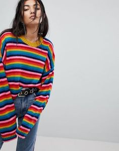 The Ragged Priest Rainbow Knitted Jumper