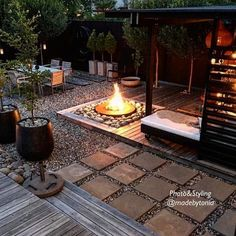 37 Beautiful Small Backyard Patio Design Ideas For Best Landscape - Ideas for small backyard patios are endless! Don't be discouraged if your backyard is tiny and you think it cannot accommodate a hard surface seating . Pergola Diy, Modern Pergola, Cheap Pergola, Outdoor Pergola, Outdoor Fire, Wooden Garden Benches, Backyard Patio Designs, Patio Ideas, Landscaping Ideas