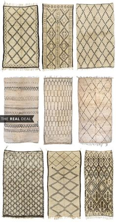 Beni Ourain Rugs: 12 Great Sources Plus 28 Room Inspiration Photos Deco Ethnic Chic, Home Decoracion, Style Deco, Moroccan Tiles, Suites, Home And Deco, Konmari, Carpet Runner, Interior Inspiration