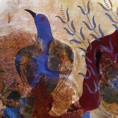 "manybirdsfromthetreeoflife: "" blue bird fresco 1500 BC Knossos Palace, Crete """