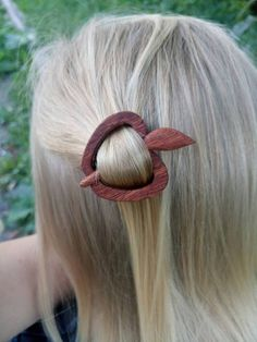 Carved LIZARD Coconut Shell HAIR PIN BARRETTE SLIDE CLASP CLIP new handmade BALI