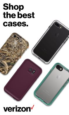 Check out these fashionable yet durable cases for any phone. Find one for yours at Verizonwireless.com today!