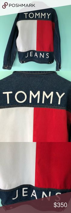 """Vintage """"Big Flag"""" Tommy Hilfiger Jacket Vintage """"Big Flag"""" Tommy Hilfiger Jacket  Denim Size Large  Chest 26"""" Length 27"""" This jacket, in my opinion, looks like it just came off the store rack!  Excellent condition! In love 😍 with this jacket! Tommy Hilfiger Jackets & Coats"""