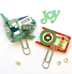 Holiday Planner Clips Embellishments by Jackie Benedict