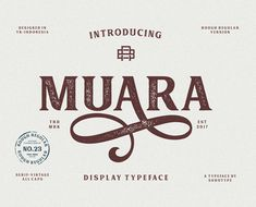 MUARA No.23 free font #freefonts #scriptfonts #typeface #newfonts #bestfonts #fonts2018 #freedownload