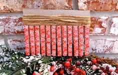 Christmas Card Holder Clothespin Kit  Red by PurplePirateStudios