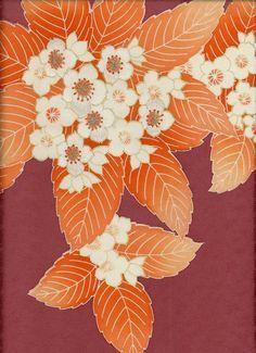 yorkeantiquetextiles: Detail of a silk kimono panel, 1950-1980, Japan. Yorke Antique Textiles
