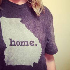 #Georgia Home T. It's super soft and a portion of profits are donated to multiple sclerosis research. Get yours here, http://www.thehomet.com/georgia-home-t-shirt.