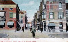 Arnhem: De kop van de Rijnstraat bij het Nieuwe Plein, in 1905