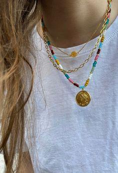Trendy Jewelry, Summer Jewelry, Cute Jewelry, Diy Jewelry, Beaded Jewelry, Jewelery, Jewelry Accessories, Handmade Jewelry, Beaded Necklace