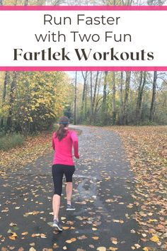 Want to have fun while running faster? A fartlek run is the workout for you! Try one of these two countdown fartlek runs and the miles will fly by! Running For Beginners, How To Start Running, How To Run Faster, Workout For Beginners, How To Run Longer, Running Workout Plan, Running Hacks, Half Marathon Motivation, Marathon Tips