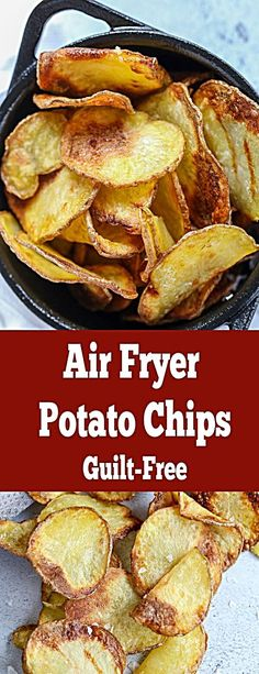 Crunchy perfect potato chips with no guilt because they are made in an air fryer. You can have a bowl or even two. Crunchy perfect potato chips with no guilt because they are made in an air fryer. You can have a bowl or even two. Air Fryer Oven Recipes, Air Frier Recipes, Air Fryer Dinner Recipes, Air Fryer Recipes Potatoes, Potato Recipes, Recipes With Potatoes, Soup Recipes, Air Fry Potatoes, Salad Recipes