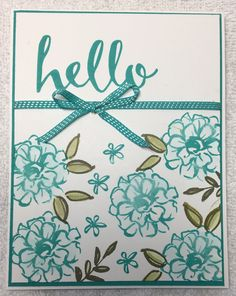 Stampin Up. Sale-A-Bration creation. What I Love stamp set.