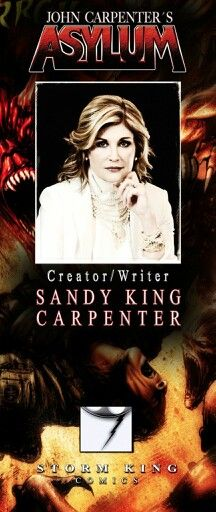 """Sandy King Carpenter, Wife To The Master of #Horror John Carpenter. Creator of John Carpenters Asylum. This Lady is Amazing!"""