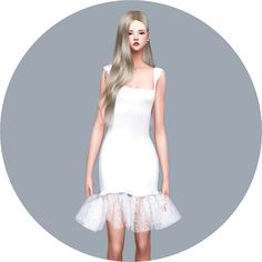 SIMS4 marigold: Mermaid Dress_머메이드 드레스_여자 의상