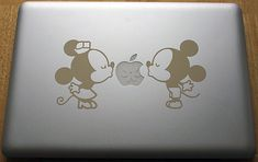 Disney Minnie and Mickey kissing decal for by DecalMania15 on Etsy