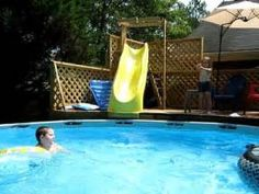 diy above ground pool slide inspiration - Diy Above Ground Pool Slide