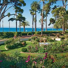 East Beach, Santa Barbara, California. Wide strip of white sand with gorgeous views of the offshore Channel Islands and aquatics activities in the old Cabrillo Bathhouse. Coastalliving.com