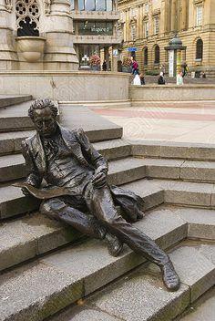 Thomas Attwood statue Chamberlain square central Birmingham England UK