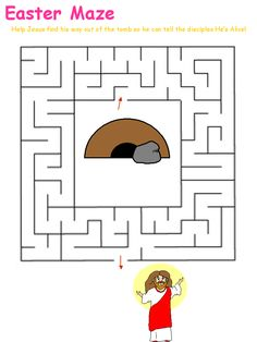 Many printable Bible story mazes, including Daniel in Lion's Den. Preschoolers can help Daniel get out of the den, after God has saved him from the lions. Sunday School Games, Sunday School Lessons, Bible Study For Kids, Bible Lessons For Kids, Easter Activities, Color Activities, Prayers For Children, Kids Prayer, Printable Mazes