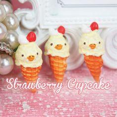 5 x Kawaii Ice Cream Cabochon Fake Miniature Sweets Food Deco Cabochons Decoden