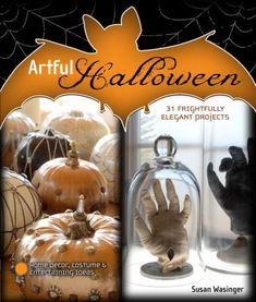 """These 30+ costume, pumpkin, and home-decorating ideas are not just beautiful--they are scary beautiful. From unique pumpkin decorations to a """"blood""""-splashed dinner-party centerpiece to a Yard Specter made from two poles, a string of lights, and torn, draped fabric, these creepy but stylish Halloween projects will give your home a spooky, sophisticated look . . . with gothic flair!"""