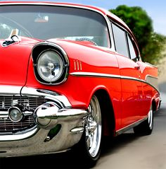 """Taylormademadman: """" 57 chevrolet bel air check out my archiv Custom Muscle Cars, Chevy Muscle Cars, Custom Cars, 1957 Chevy Bel Air, Chevrolet Bel Air, Pickup Car, Chevy Girl, Classic Chevrolet, Old Classic Cars"""