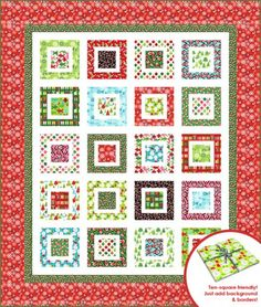 Jingle Bell Rock quilt from Jingle by Ann Kelle fabrics coming to shops May 2012!
